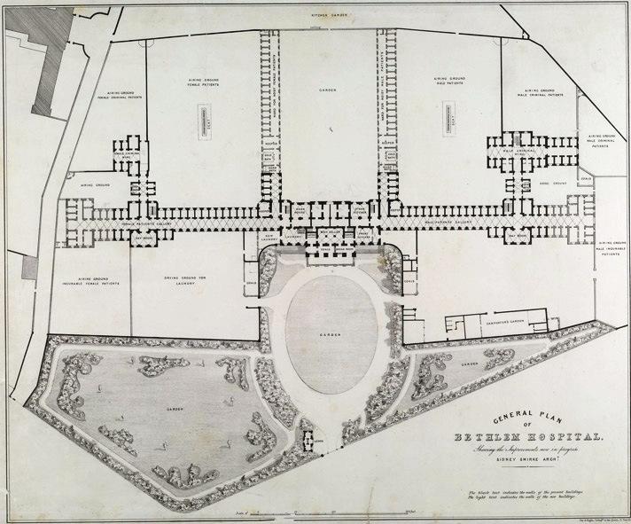 Plan of Bethlehem Hospital (www.bl.uk/onlinegallery)