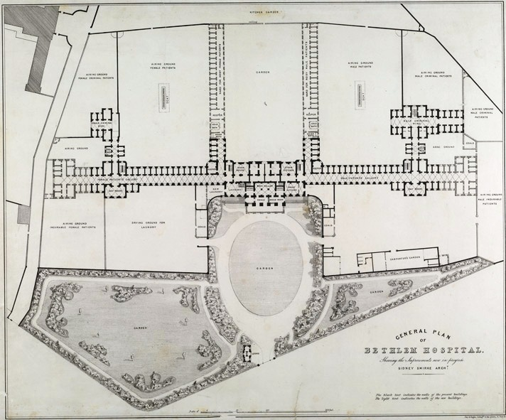 Plan of Bethlehem Hospital (www.bl.uk/onlinegallery)