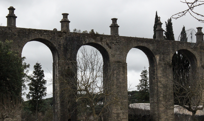 The aqueduct bringing the water supply