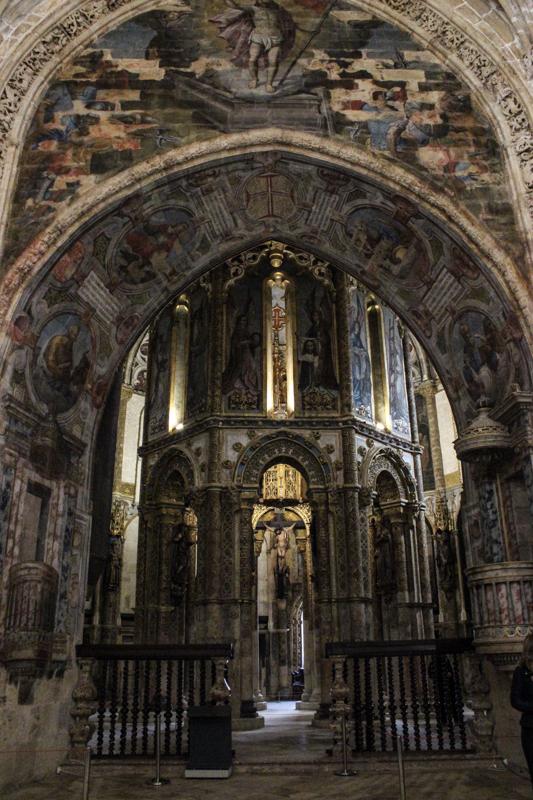 Inside the Church, the original round Templar Church