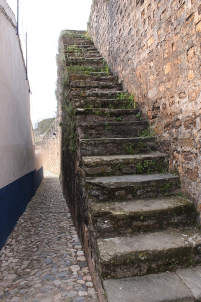 Stairs up to the sentry path around the walls
