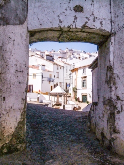 Old Gateway into Castelo de Vide, at the Town Fountain