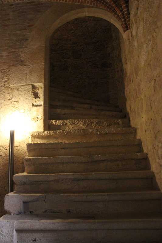 An old stairway alongside the cloisters, Flor da Rosa