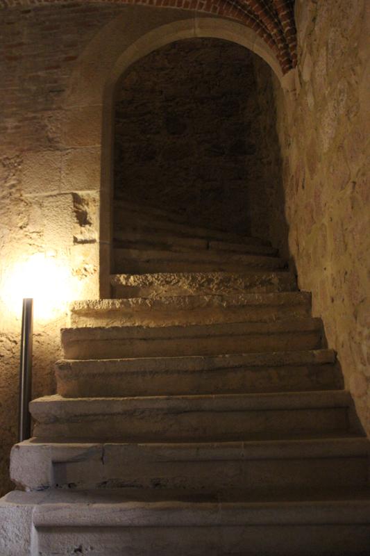 An old stairway alongside the cloisters, Flor da Rosa