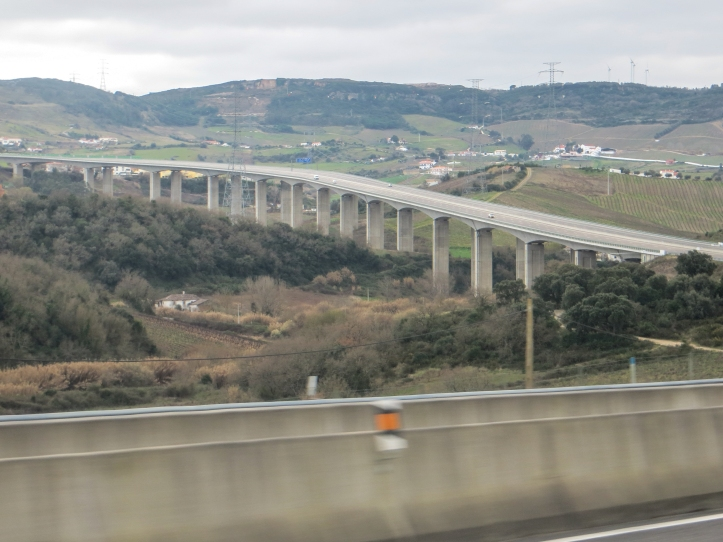 The hills behind Lisbon