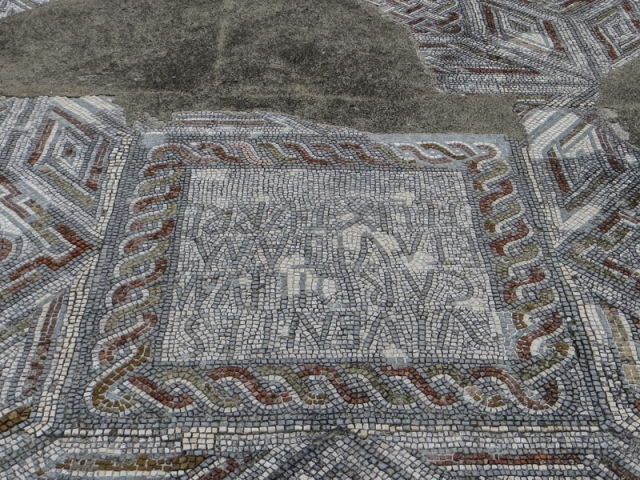 The mosaic which talks of the owners, Cardillo and Avita