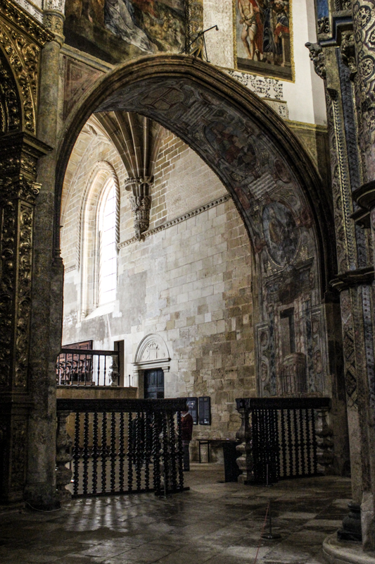 Inside the church, looking from the Templar Church towards the Nave