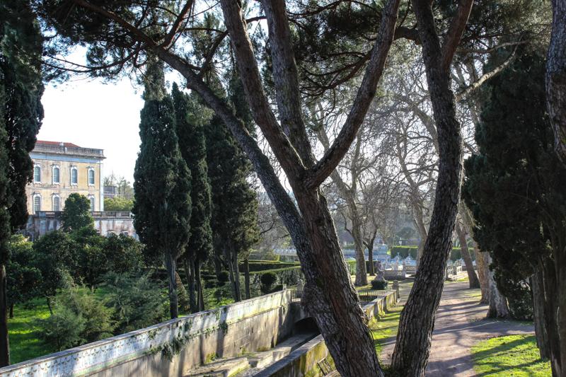 The tiled canal, Royal Palace, Queluz