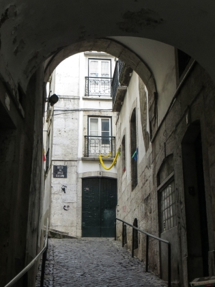 Old town gateway in the Alfama