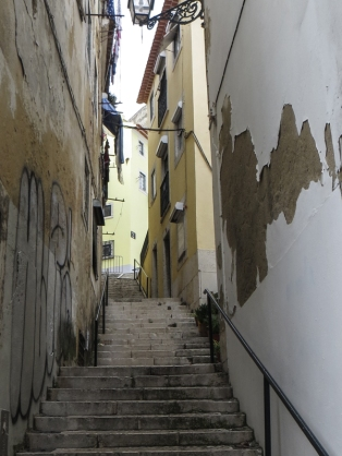 Stepped street in the Alfama
