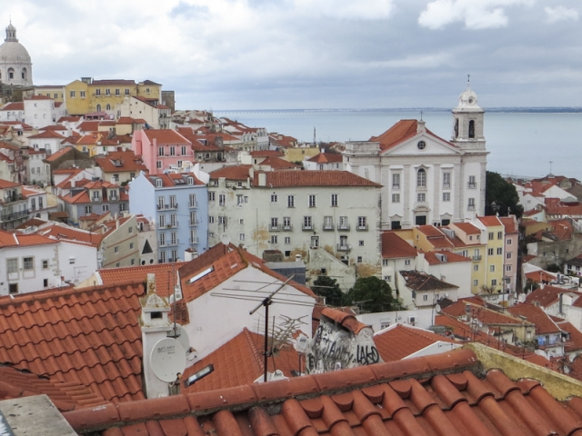 A view of the Alfama from the Miradoura Santa Luzia