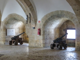 Guns inside the Tower of Belem