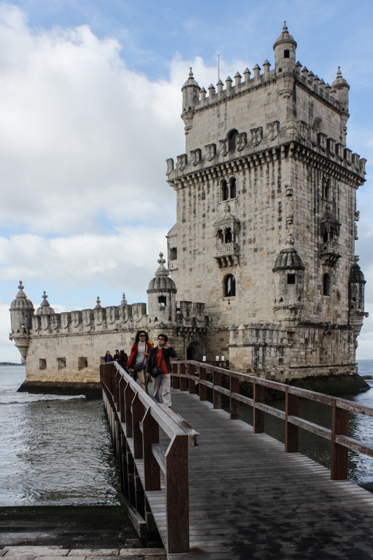 The Tower of Belem, close to the shoreline