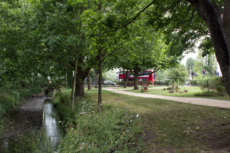 The Ravensbourne in Peter Pan's Park