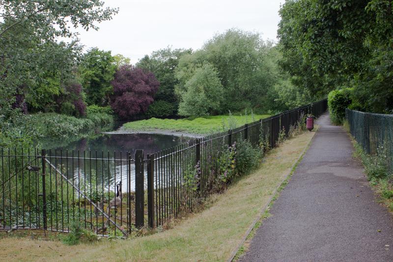 Glassmill Reservoir on the Ravensbourne, just below Bromley Town Centre