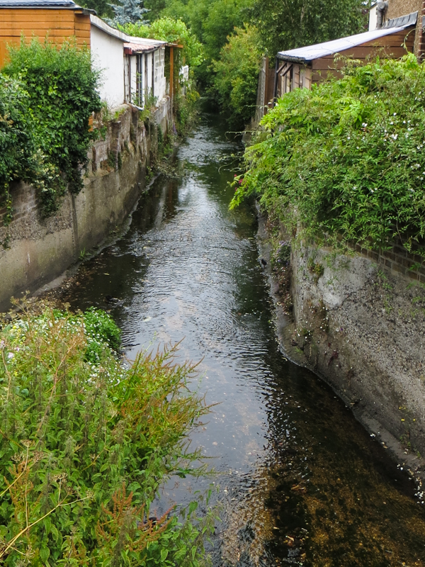 The Ravensbourne River crossing Farnaby Road