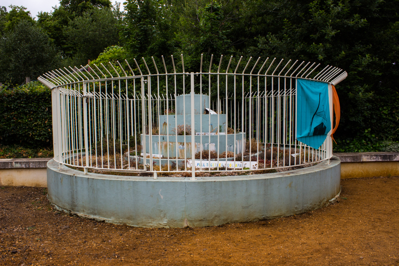 The remains of the Lido Fountain