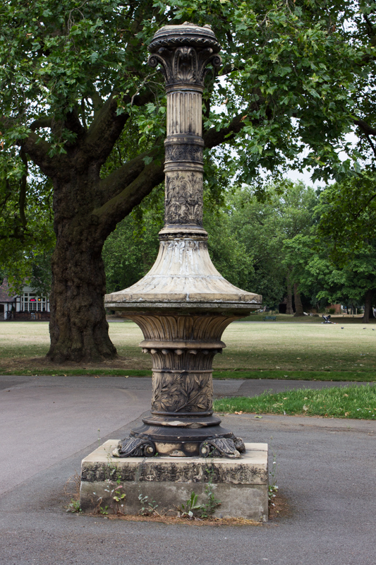 The remains of the Tinworth Fountain, Kennington Park