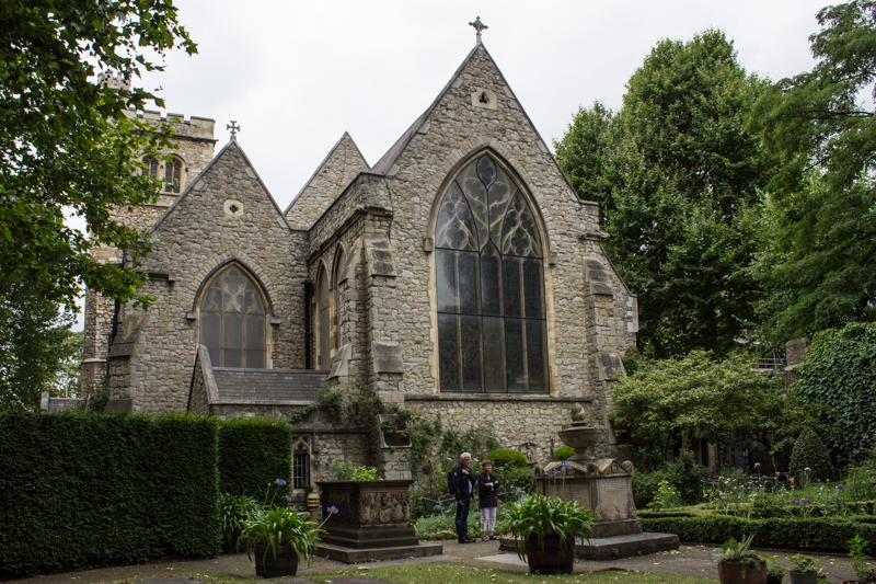 St Mary's, Lambeth, from the garden