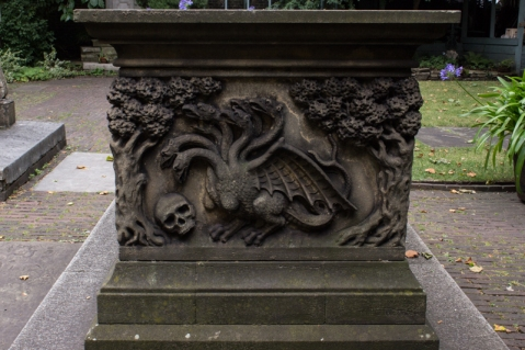 The Tradescant tomb