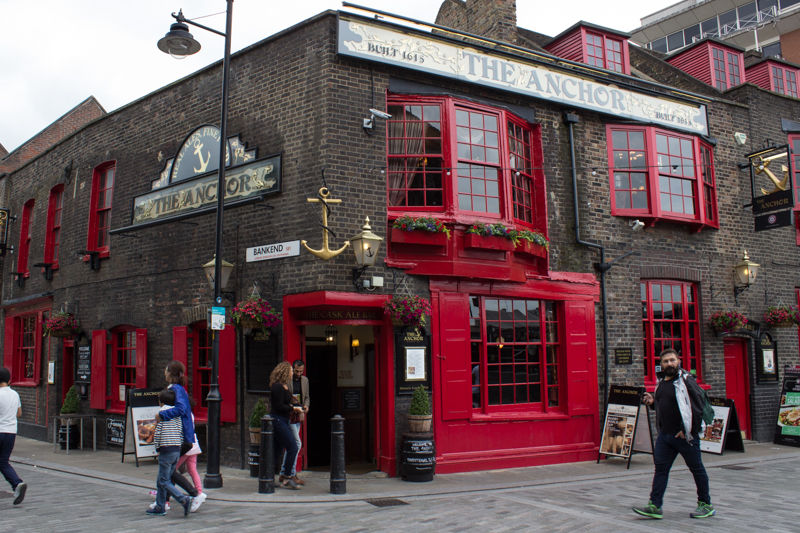 The Anchor pub was attached to Barclay & Perkins Brewery