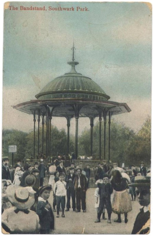 Bandstand, Southwark Park, early 1900s (www.bermondseyboy.net)