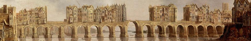 Claude de Jongh (1632), View of London Bridge (wikipedia)