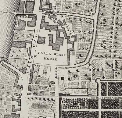 Glasshouse, map of 1746 (www.kenningtonandkennington.org.uk)