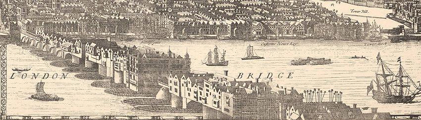 London Bridge, 1682 (Wikipedia)