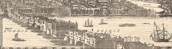 London Bridge, 1682 (Wikipedia)