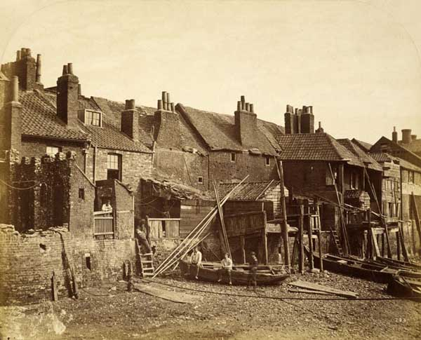 Lower Fore Street c.1860 before the Albert Embankment, by William Strudwick (wwwunrbanlandscape.org.uk)