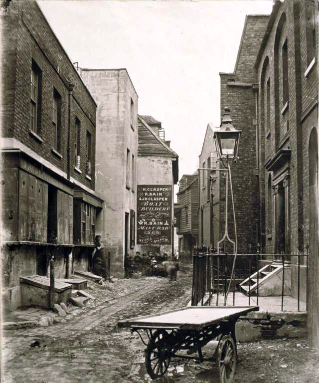 Lower Fore Street c.1860 by William Strudwick(www.partleton.co.uk)