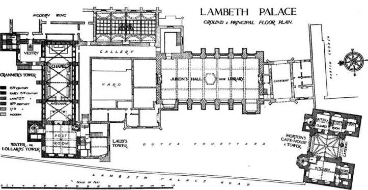 Plan of Lambeth Palace (www.british-history.ac.uk)