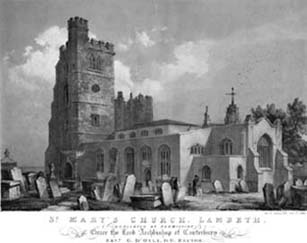 St Mary At Lambeth,1836 (www.partleton.co.uk)
