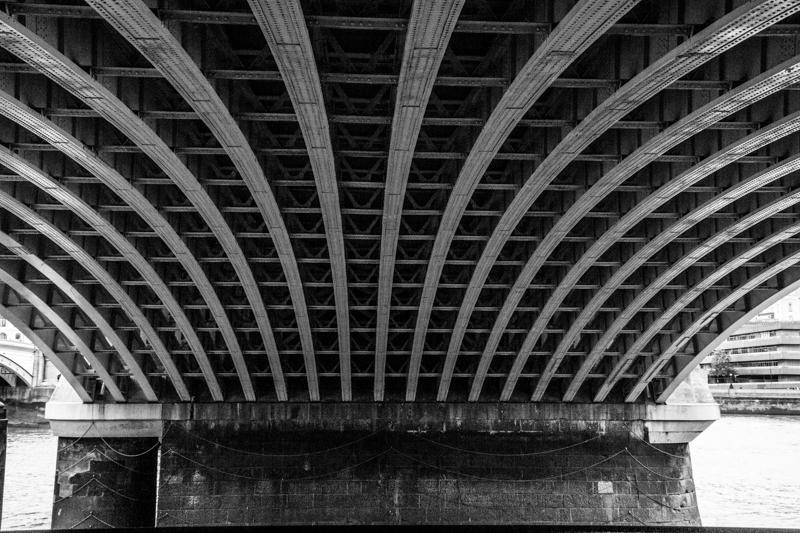 The 2nd railway bridge at Blackfriars (today's railway bridge)