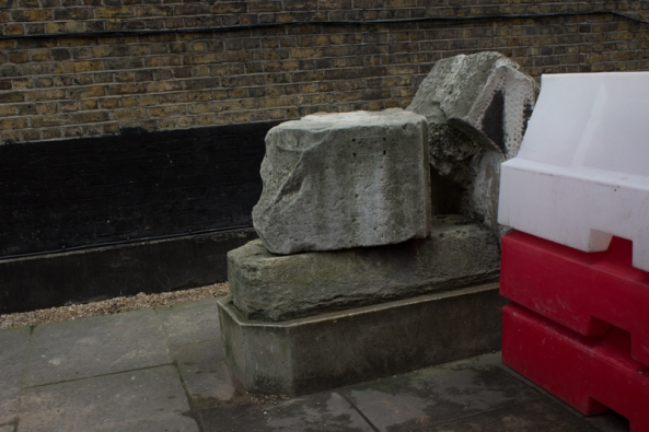 Stones from Old London Bridge at St Magnus