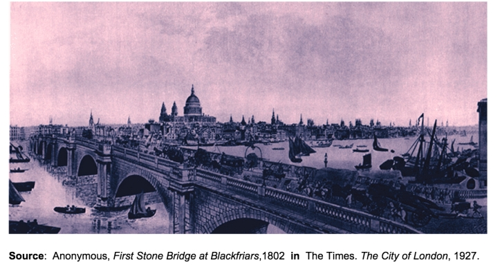 Blackfriars Bridge, 1802 (http://www.ph.ucla.edu/epi/snow/1859map/blackfriars_bridge.html)