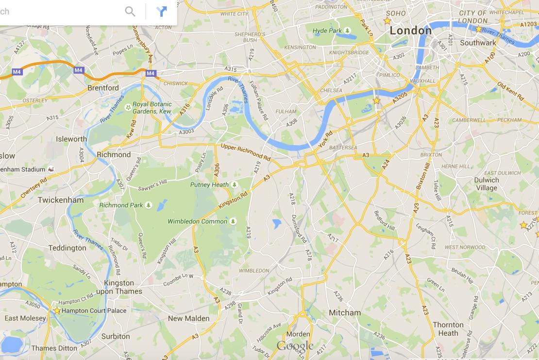 Thames from London Bridge to Hampton Court