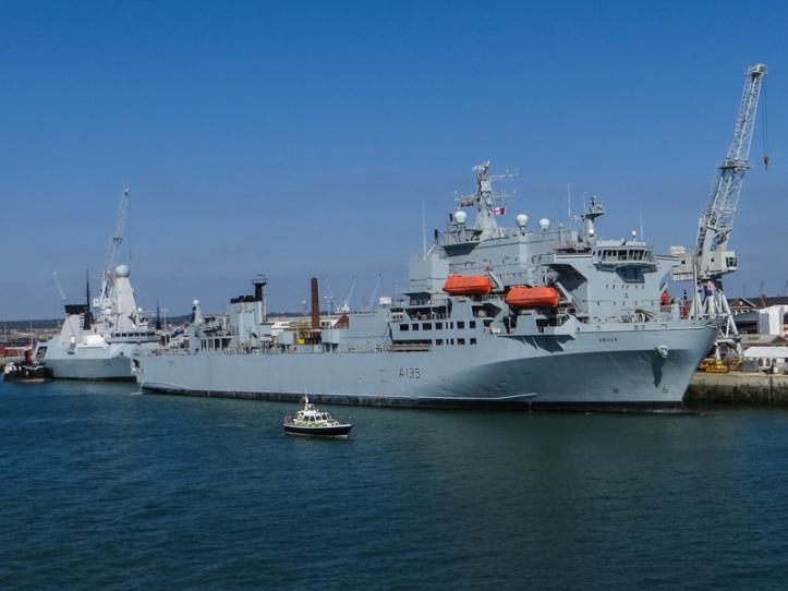 HMS Defender & RFA Argus