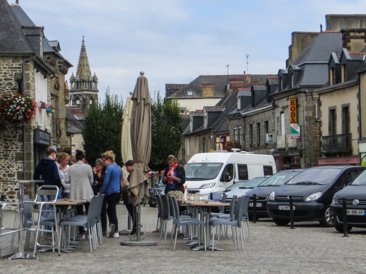 The central square in Combourg