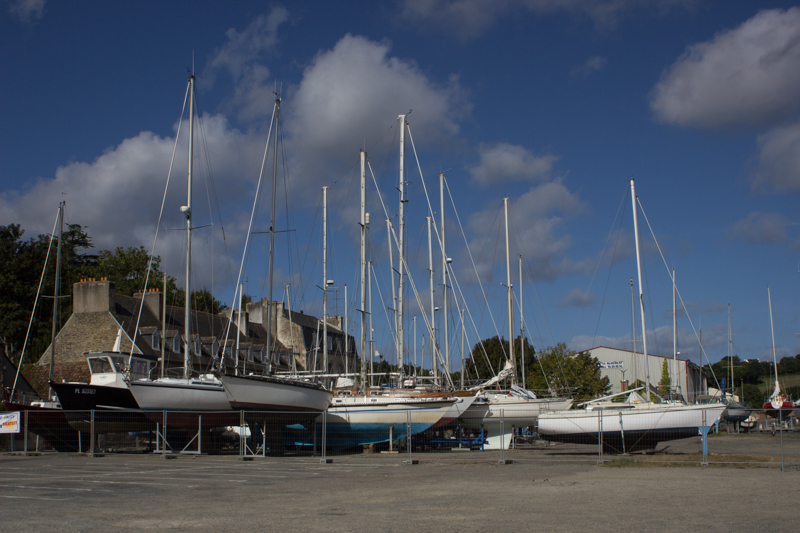 Boats on Treguier quayside