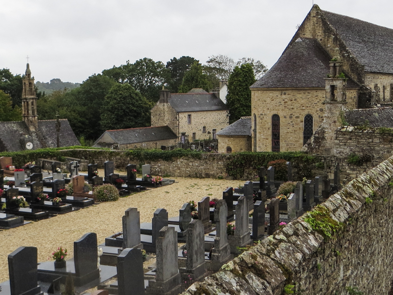The cemetery at the Abbey of Daoulas