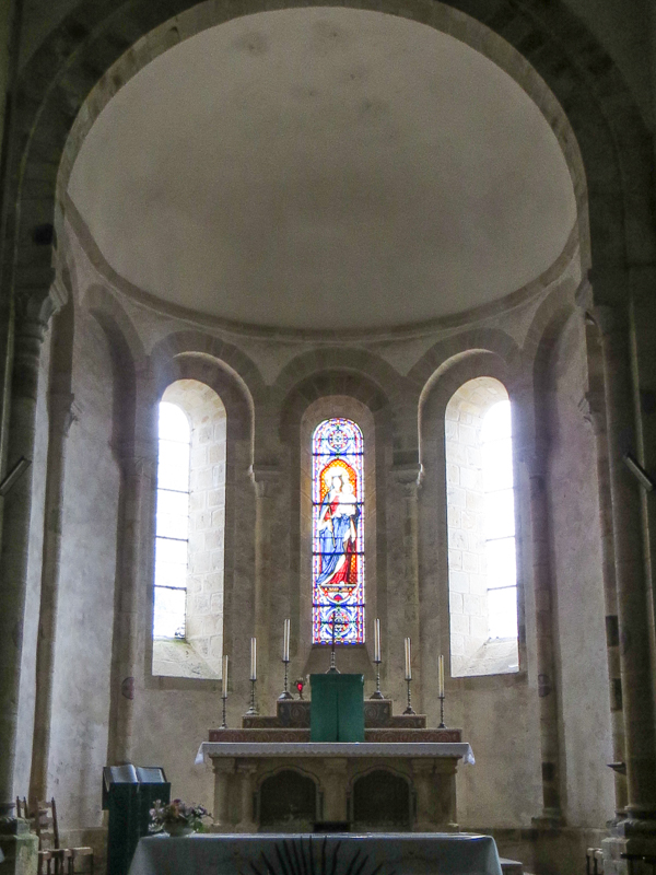 Inside the Abbey Church of Daoulas