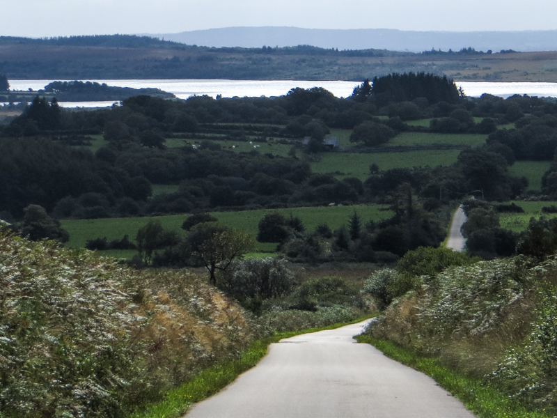 Down the road towards the Reservoir de St Michel