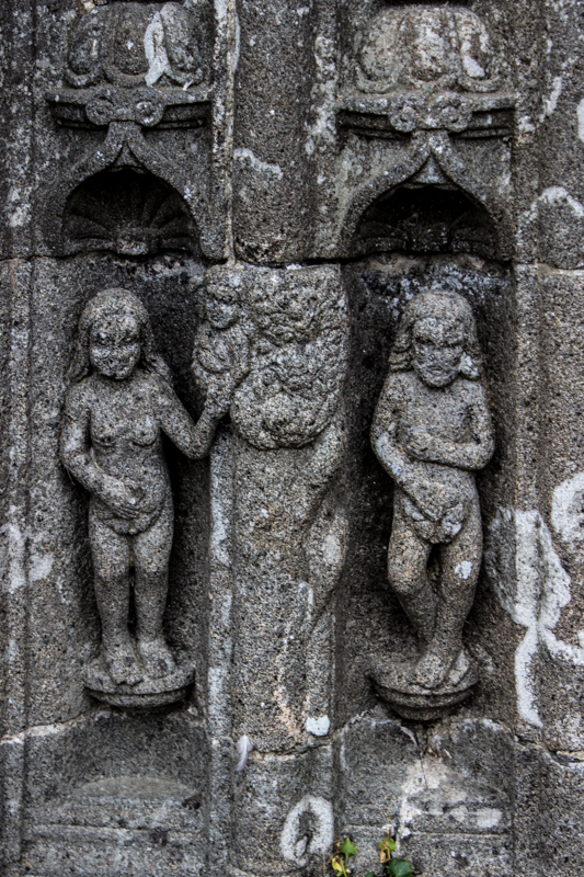 Adam & Eve on the South Porch arch, Ploudiry Church