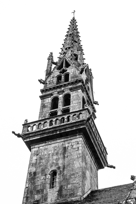 The spire of St Peter's Church, Ploudiry