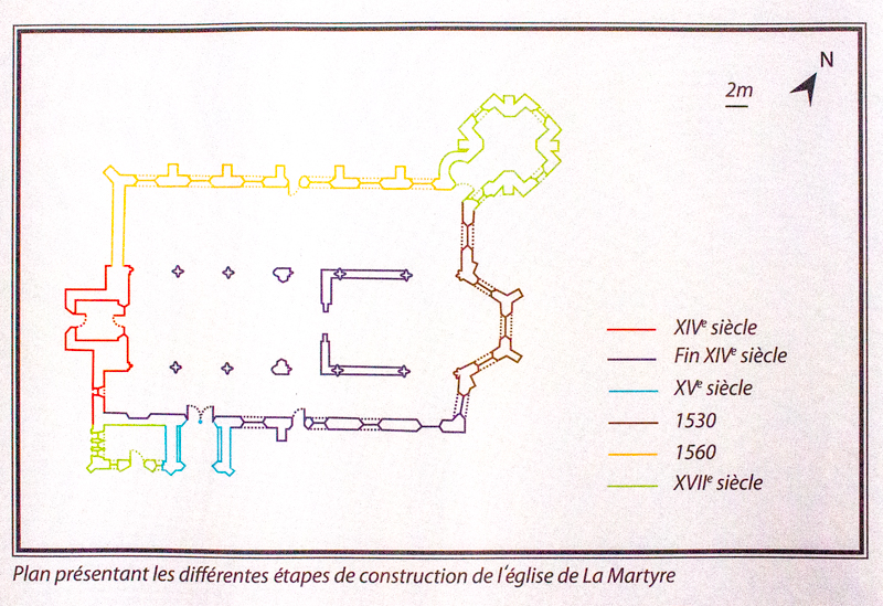 The historical plan of La Martyre