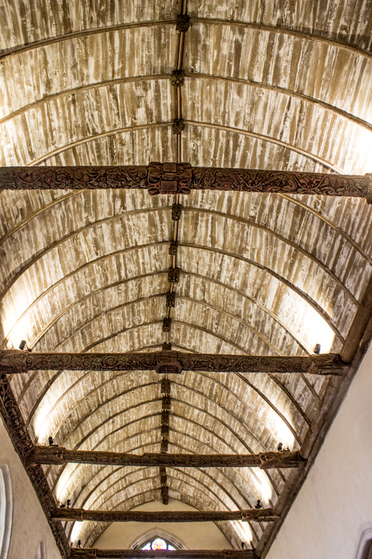 The ceiling of La Martyre Church