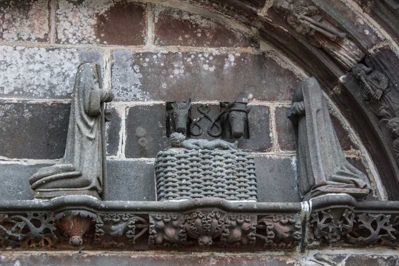 Nativity on the Tympanum of the South Porch, Pencran
