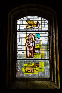 Stained glass, Pencran Church
